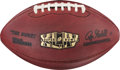 Football Collectibles:Balls, 2010 Super Bowl XLIV Game Used Football - With NFL Auction LOA....