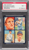Baseball Cards:Singles (1930-1939), 1935 Goudey 4-In-1 Byrd/MacFayden/Martin/O'Farrell PSA NM 7 - PopTwo, Two Higher. ...