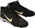 Baseball Collectibles:Others, 1999-2003 Alfonso Soriano Game Worn New York Yankees Spikes....