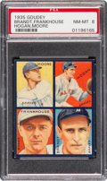Baseball Cards:Singles (1930-1939), 1935 Goudey 4-In-1 Brandt/Frankhouse/Hogan/Moore PSA NM-MT 8 - PopTwo, None Higher. ...