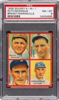 Baseball Cards:Singles (1930-1939), 1935 Goudey 4-In-1 Brandt/Maranville/McManus/Ruth PSA NM-MT 8 -None Higher. ...
