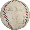 Autographs:Baseballs, 1930 Philadelphia Athletics World Champions Team SignedBaseball....