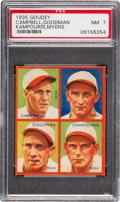 Baseball Cards:Singles (1930-1939), 1935 Goudey 4-In-1 Campbell/Goodman/Kampouris/Meyers PSA NM 7 - TheHighest PSA Example! ...