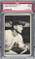 Baseball Cards:Singles (1950-1959), 1953 Bowman Black & White Gene Woodling #31 PSA Mint 9 - None Higher! ...
