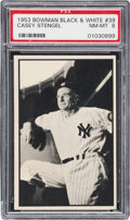 Baseball Cards:Singles (1950-1959), 1953 Bowman Black & White Casey Stengel #39 PSA NM-MT 8....
