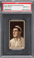 Baseball Cards:Singles (Pre-1930), 1912 T207 Recruit Ping Bodie PSA NM-MT 8 - The Highest Graded Example! ...
