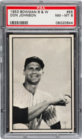 Baseball Cards:Singles (1950-1959), 1953 Bowman Black & White Don Johnson #55 PSA NM-MT 8....