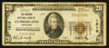 National Bank Notes:Maryland, Cumberland, MD - $20 1929 Ty. 1 The Second NB Ch. # 1519. ...