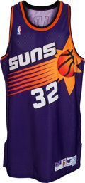 Basketball Collectibles:Uniforms, 1998-99 Jason Kidd Game Worn, Signed Phoenix Suns Jersey - WithTrainer Letter....