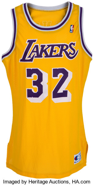 4d25ec7faac2 1990-91 Magic Johnson Game Worn Los Angeles Lakers Jersey....
