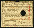 Colonial Notes:Massachusetts, Massachusetts May 5, 1780 $2 Choice About New, POC.. ...