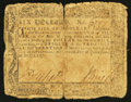 Colonial Notes:Maryland, Maryland December 7, 1775 $6 Good.. ...