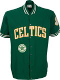 Basketball Collectibles:Uniforms, 1975 Paul Silas Game Worn Boston Celtics Warm Up Jacket - With RareMassachusetts Bicentennial Patch!...