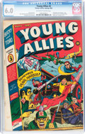 Golden Age (1938-1955):Superhero, Young Allies Comics #3 (Timely, 1942) CGC FN 6.0 Off-white to white pages....
