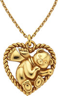 Estate Jewelry:Necklaces, Gold Pendant-Necklace, Van Cleef & Arpels. ...
