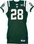 Football Collectibles:Uniforms, 2004 Curtis Martin Game Worn New York Jets Jersey....
