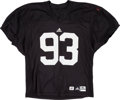 Football Collectibles:Uniforms, 2007 Ndamukong Suh Practice Worn Nebraska Cornhuskers Jersey....