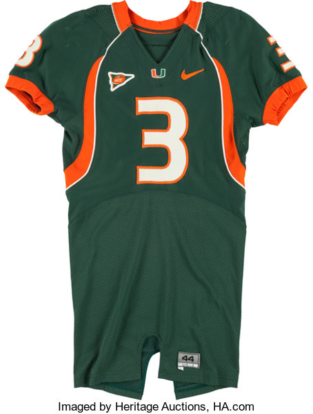 low priced 5ec5f f5ea8 2004 Frank Gore Game Worn Miami Hurricanes Jersey ...