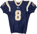 Football Collectibles:Uniforms, 2010 Sam Bradford Game Worn, Unwashed St. Louis Rams Jersey - Worn 12/26 Vs. San Francisco....
