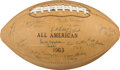 Football Collectibles:Balls, 1963 College All American Multi Signed Football. ...