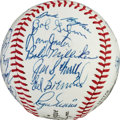 Autographs:Baseballs, 1967 St. Louis Cardinals Team Signed Baseball, PSA/DNA 9.5....