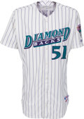 Baseball Collectibles:Uniforms, 2000 Randy Johnson Game Worn Arizona Diamondbacks Jersey....