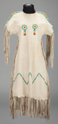 American Indian Art:Beadwork and Quillwork, A SOUTHERN PLAINS BEADED HIDE DRESS...