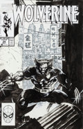 Original Comic Art:Covers, Jim Lee Wolverine #24 Cover Original Art (Marvel, 1990)....(Total: 2 Items)