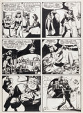 "Original Comic Art:Panel Pages, Will Eisner Spirit Section ""Caramba"" Page 4 dated 11-19-46Original Art (Will Eisner, 1946)...."