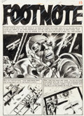 "Original Comic Art:Panel Pages, Jack Davis Aces High #2 ""Footnote"" Title Page 1 Original Art(EC, 1955)...."