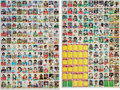 Football Cards:Sets, 1976 Topps Football Uncut Sheets Pair - With Payton Rookie!...