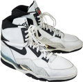 Basketball Collectibles:Others, Circa 1989 David Robinson Game Worn, Signed San Antonio Spurs Rookie Era Shoes....