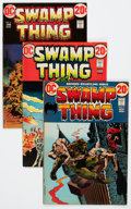 Bronze Age (1970-1979):Horror, Swamp Thing Group (DC, 1972-75) Condition: Average VG+.... (Total:23 Comic Books)