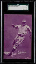Baseball Cards:Singles (1950-1959), 1953 Canadian Exhibits Jackie Robinson #19 SGC 86 NM+ 7.5....