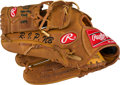 Baseball Collectibles:Others, 2009 C.C. Sabathia Yankee Stadium Opening Day Used Fielder'sGlove....