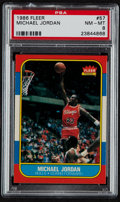 Basketball Cards:Singles (1980-Now), 1986 Fleer Michael Jordan #57 PSA NM-MT 8....