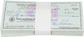 Baseball Collectibles:Others, 1976-90 Bobby Thomson Signed Checks Lot of 1,000....