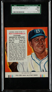 1954 Red Man Tobacco Roy Campanella #13 SGC 92 NM/MT+ 8.5 - Pop One, Highest!
