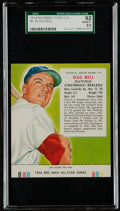 Baseball Cards:Singles (1950-1959), 1954 Red Man Tobacco Gus Bell #19 SGC 92 NM/MT+ 8.5 - Pop Two, Highest!...