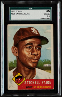 1953 Topps Satchell Paige #220 SGC 35 Good+ 2.5