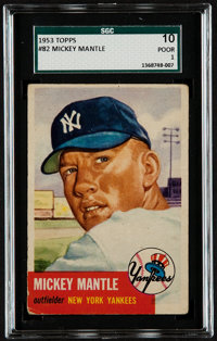 1953 Topps Mickey Mantle #82 SGC 10 Poor 1