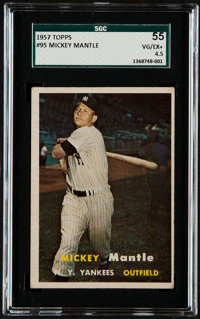 1957 Topps Mickey Mantle #95 SGC 55 VG/EX+ 4.5