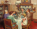 Mainstream Illustration, HAROLD ANDERSON (American, 1894-1973). A Good Table is anAmerican Tradition, Ladies Home Journal interior illustration,...