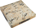 Baseball Collectibles:Others, 2009 Yankee Stadium Game Used Base Signed by New York YankeesTeam....