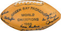 Football Collectibles:Balls, 1967 Green Bay Packers Team Signed (Traced) Football - Originally Acquired from Nitschke Estate....