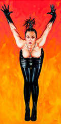 Pin-up and Glamour Art, OLIVIA (OLIVIA DE BERARDINIS) (American, b. 1948). She Came fromPlanet Claire, 1988. Acrylic on canvas. 72 x 36 in.. Si...