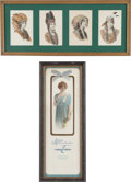 Advertising:Paper Items, American Color Lithography: Two Lovely Framed Display Pieces....(Total: 2 Items)
