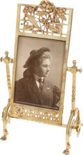 Photography:Cabinet Photos, Lovely Art Nouveau Brass Photo Stand....