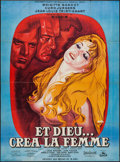 "Movie Posters:Foreign, And God Created Woman (Cocinor, R-1964). French Grande (46"" X 63""). Foreign.. ..."