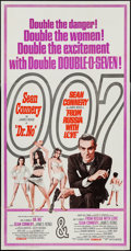 "Movie Posters:James Bond, Dr. No/From Russia with Love Combo (United Artists, R-1965). Three Sheet (41"" X 79""). James Bond.. ..."